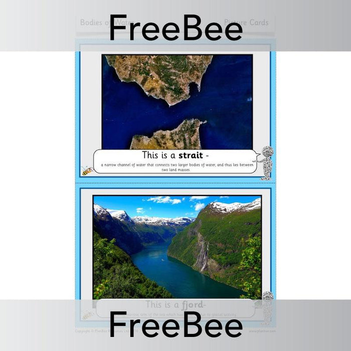 PlanBee Bodies of Water Picture Cards | PlanBee FreeBees