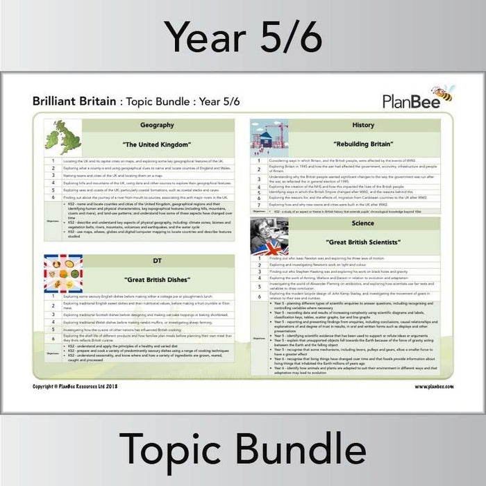 PlanBee Brilliant Britain KS2 Year 5 & Year 6 Topic by PlanBee