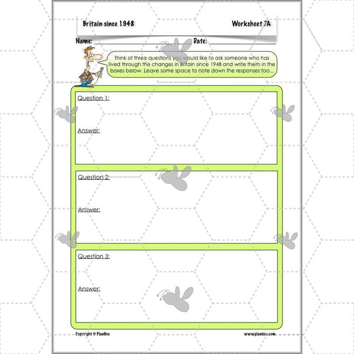 PlanBee Britain Since 1948 - Complete Primary History Planning for KS2