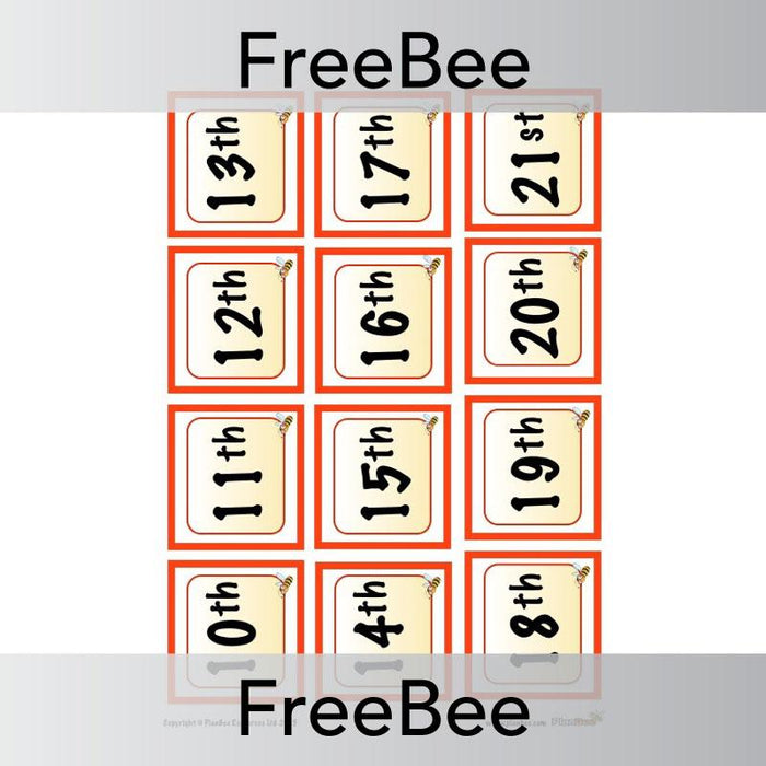 PlanBee Calendar Display | PlanBee FreeBees