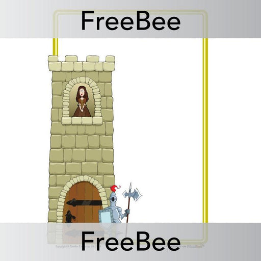 PlanBee Castle Writing Frame | PlanBee FreeBees