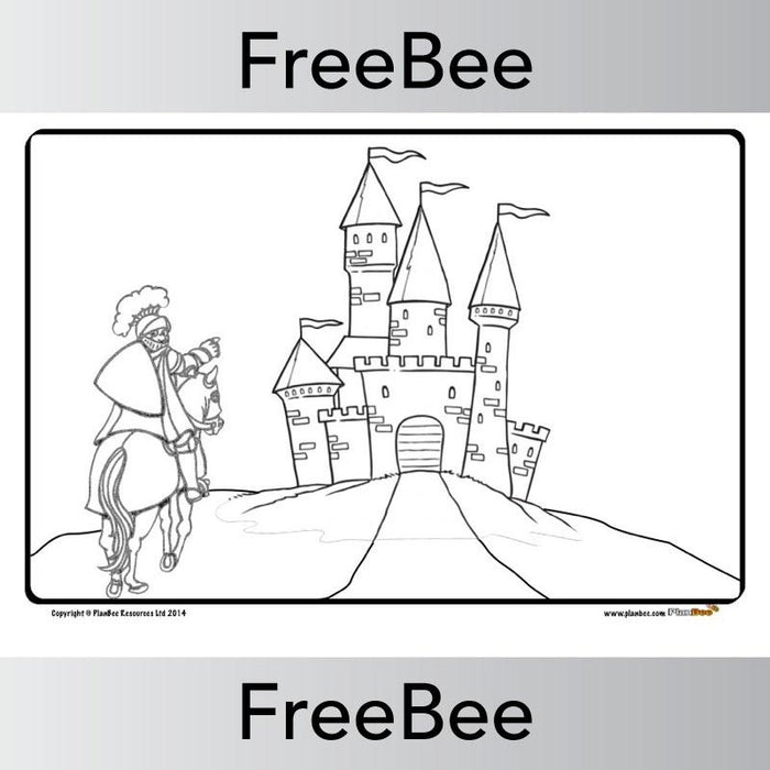 PlanBee Castles Colouring Pages | PlanBee FreeBees