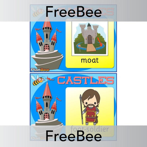 PlanBee Castles Word Cards | PlanBee FreeBees