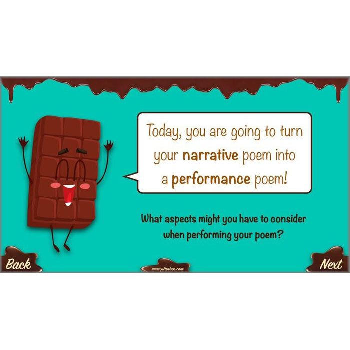 Chocolate Poetry : Performing Your Poem