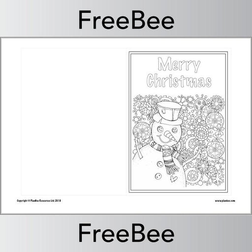 PlanBee Free Christmas card templates for children - cut out and colour
