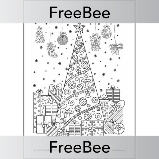 PlanBee Free Christmas Colouring Pages | PlanBee