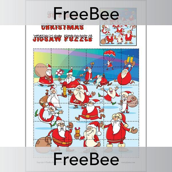 PlanBee Printable Christmas Jigsaw Puzzles