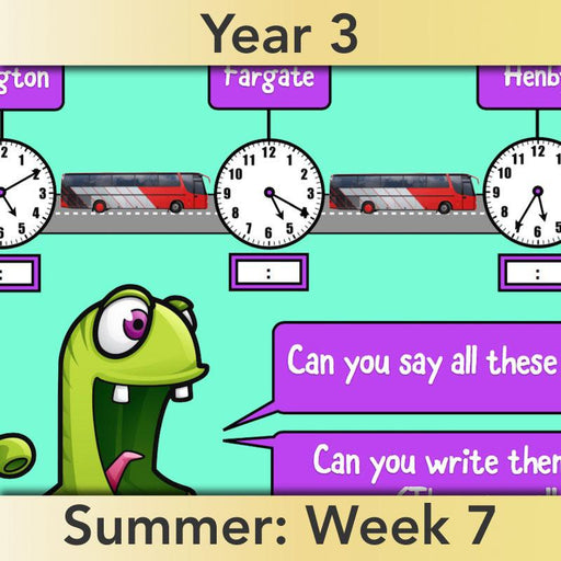 PlanBee Clock Watching | Time Year 3 Maths Lesson Activity Pack