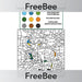 PlanBee Colour By Number: Subtraction | PlanBee FreeBees