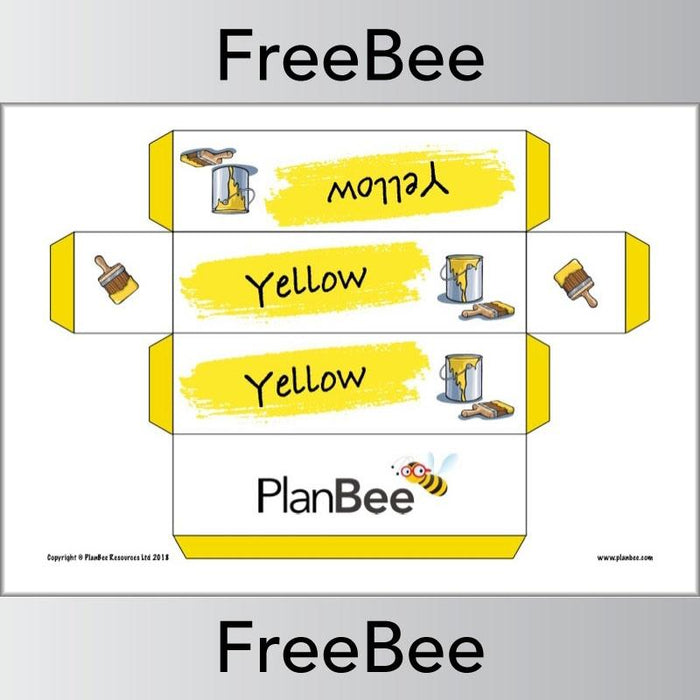 PlanBee Free printable colour group name labels by PlanBee