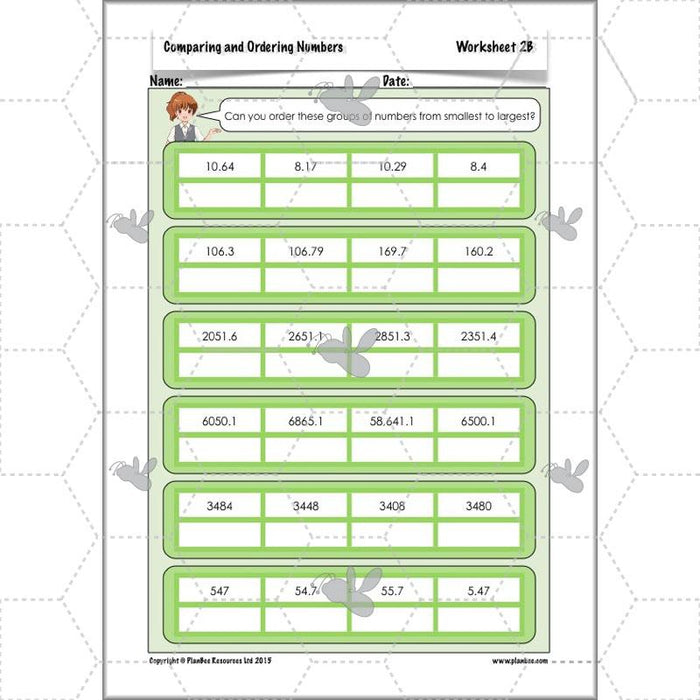 PlanBee Comparing & Ordering Numbers - Year 6 Maths Planning