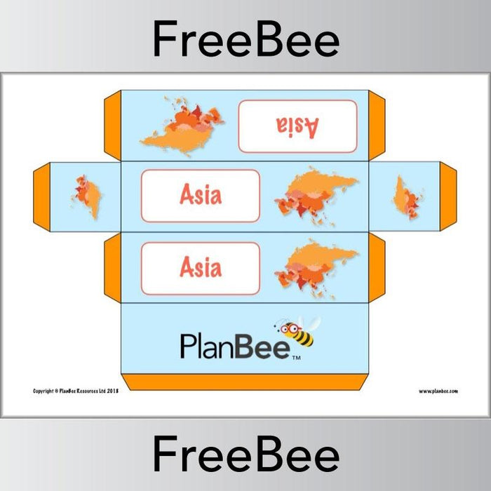 PlanBee Free Continents Group Name Labels | Primary School