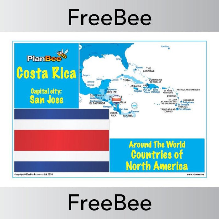 PlanBee Free Countries in North America Posters | PlanBee