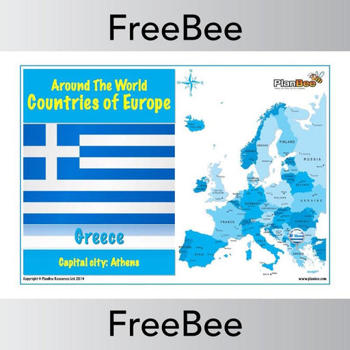 PlanBee Free Countries in Europe Posters with flags | PlanBee