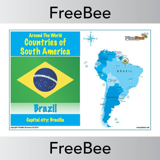 PlanBee FREE Countries of South America Posters | PlanBee