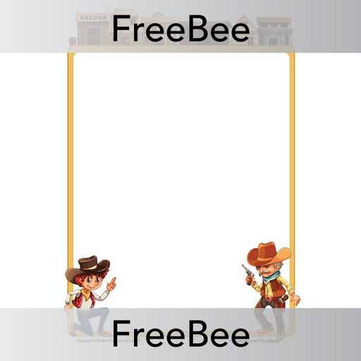 PlanBee Cowboy Writing Frame | PlanBee FreeBees