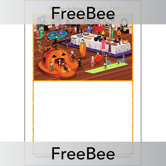 PlanBee Describe the Scene: Halloween Descriptive Writing by PlanBee