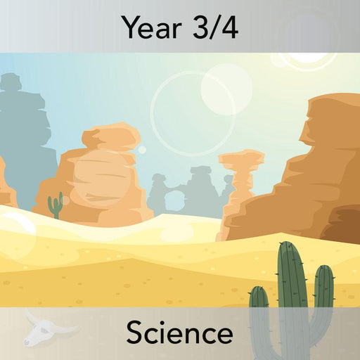 PlanBee Desert Life: KS2 Science Plans