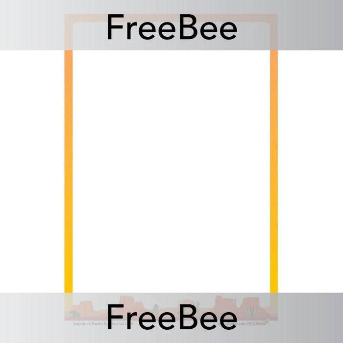 PlanBee Desert Writing Frame | PlanBee FreeBees