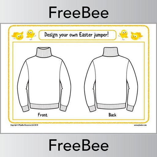 PlanBee Design an Easter Jumper | PlanBee Free Resources