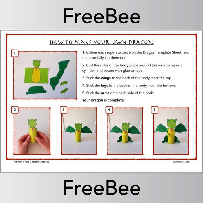 PlanBee Dragon Template | St George's Day Activities