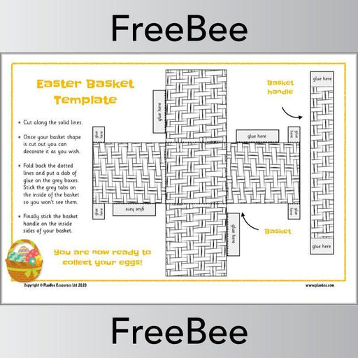 PlanBee Easter Basket Templates | Free PlanBee Resource