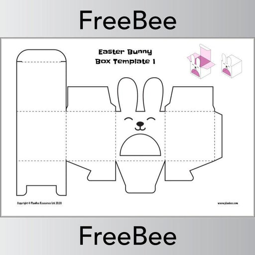 PlanBee Easter Boxes Template | Free PlanBee Resource
