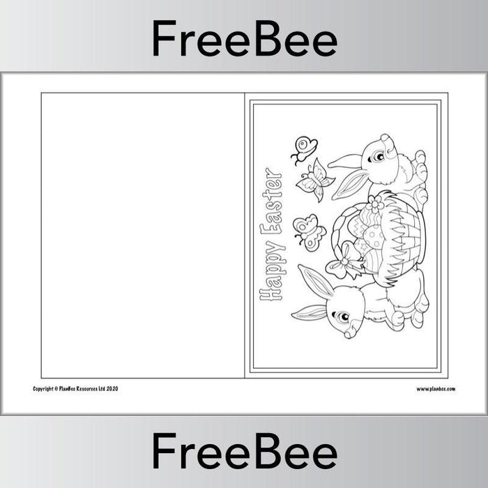 PlanBee Easter Card Template | Free PlanBee Resource