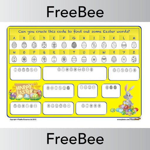 PlanBee Printable Easter Code Breaker | PlanBee FreeBees