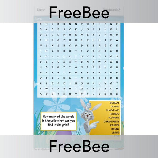 PlanBee Printable Easter Word Search KS2 | Free PlanBee Resource