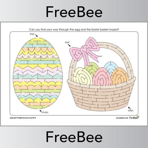 PlanBee Free Easter Mazes for Kids | PlanBee FreeBees