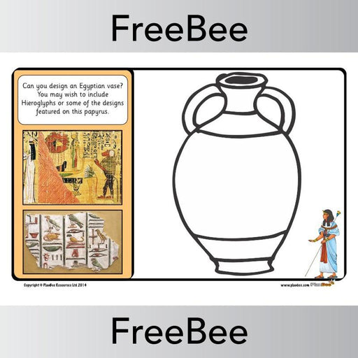 PlanBee Ancient Egyptians Vase Designs | PlanBee FreeBees