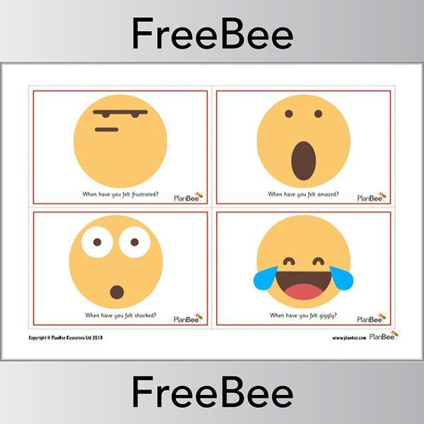PlanBee Free printable emojis emotion faces by PlanBee