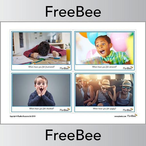 PlanBee Free printable photo emotion cards by PlanBee