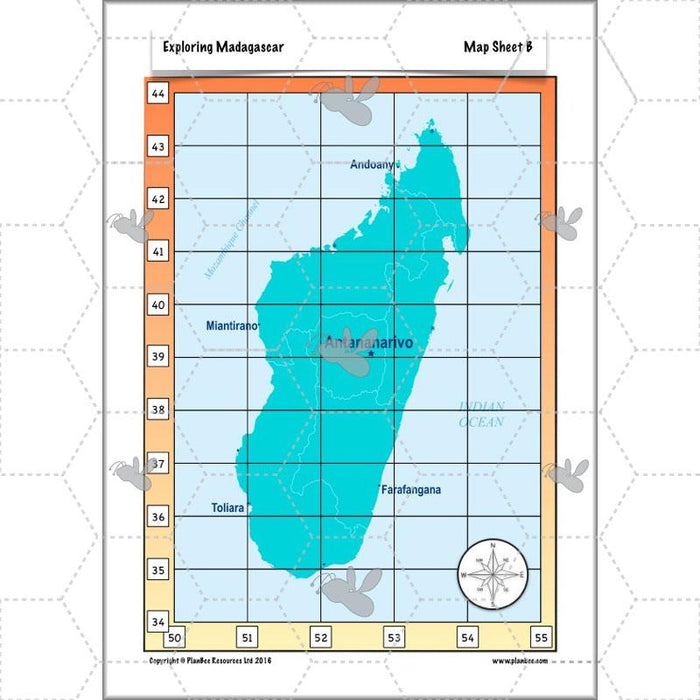 PlanBee Exploring Madagascar: LKS2 Year 3 & Year 4 set of Geography lessons