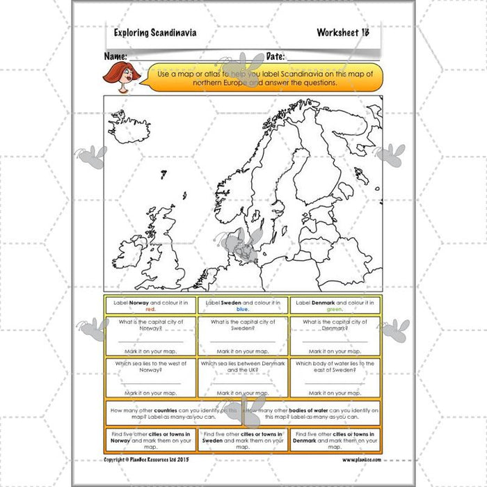 PlanBee Exploring Scandinavia: Year 5 & Year 6 KS2 scheme of work Geography