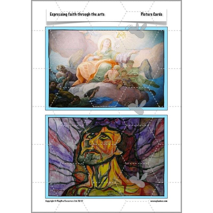 PlanBee Expressing Faith through the Arts: Complete set of RE lessons for KS2