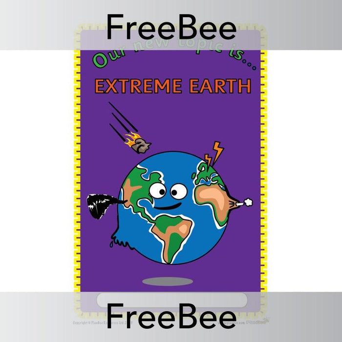PlanBee Extreme Earth Topic Cover | FreeBees | PlanBee