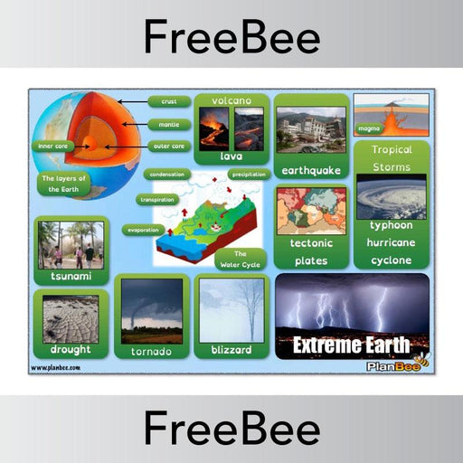 PlanBee Extreme Earth Word Bank | PlanBee FreeBees
