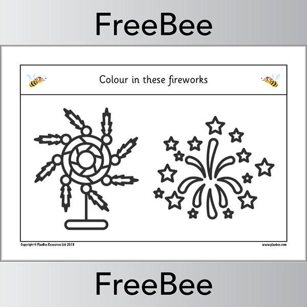Firework Colouring Pages