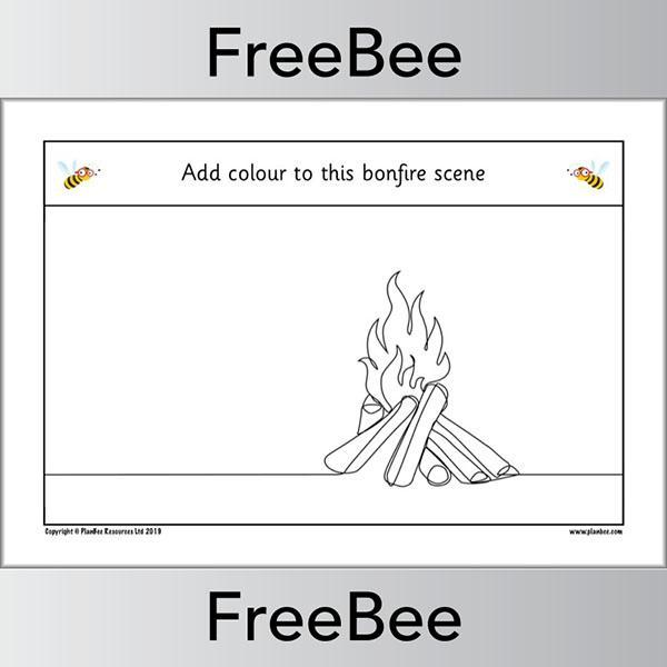 PlanBee Free Firework Colouring Pages by PlanBee