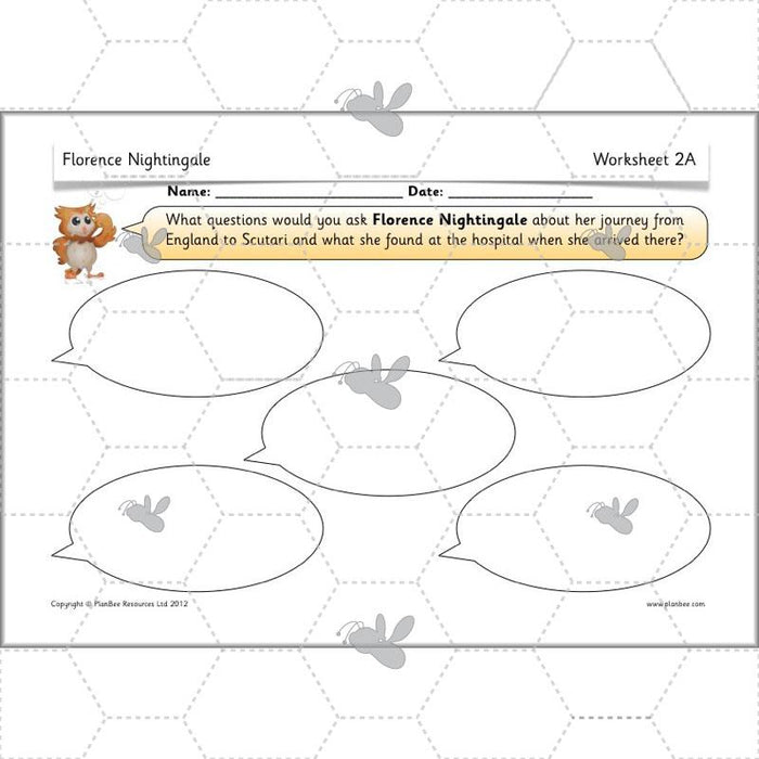 PlanBee Florence Nightingale KS1 Planning | Year 2 History Plans & Resources