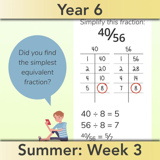 PlanBee Fractions, Decimals & Percentages - Year 6 Complete Maths Planning