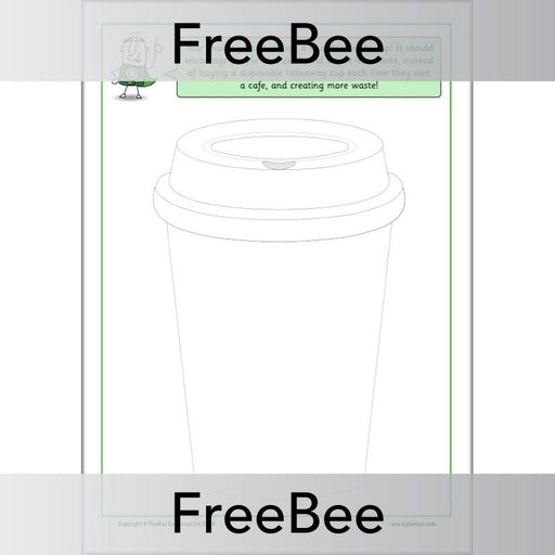 PlanBee Reusable Cup Design Sheet by PlanBee