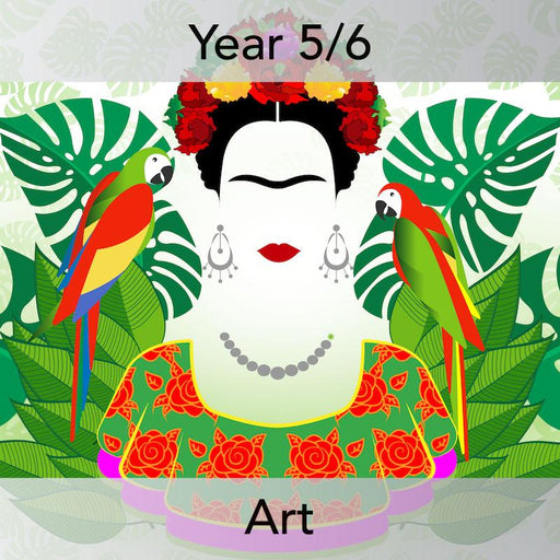 PlanBee KS2 Frida Kahlo for Kids Art Lesson Pack by PlanBee
