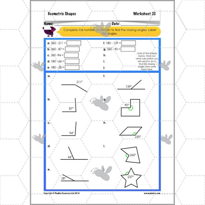 PlanBee Geometric Shapes Year 6 Maths Lessons by PlanBee