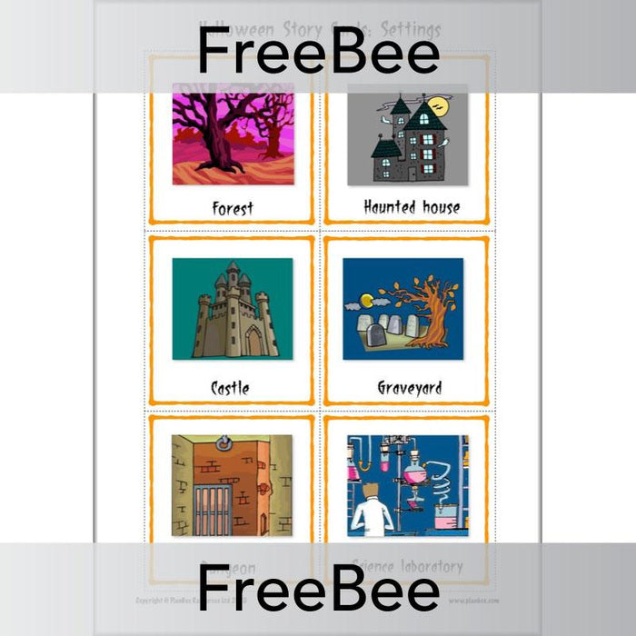 PlanBee FREE Halloween Story Cards created by PlanBee
