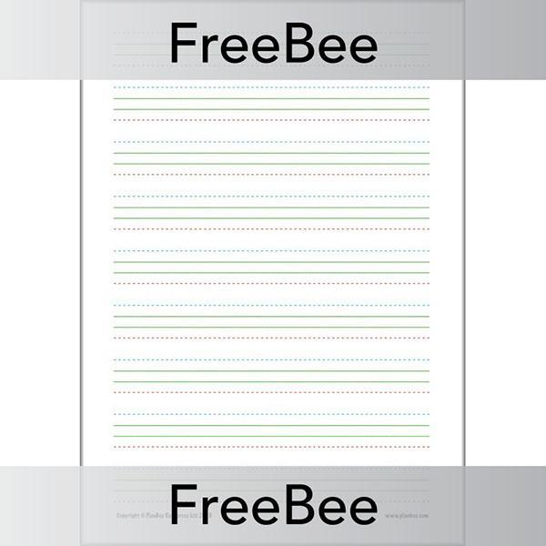 PlanBee Free Handwriting Practice Sheet by PlanBee