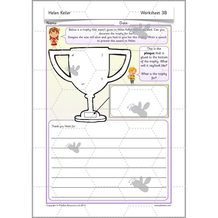 PlanBee Helen Keller for kids - KS1 Lessons and resources by PlanBee