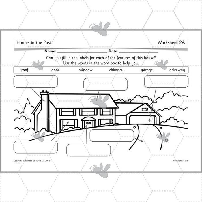 PlanBee Homes in the Past : KS1 History Planning for Year 1